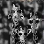 Girafe's Usure Lunettes De Soleil Salle bain Rideau Douche 180cm x Polyester