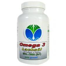 Omega 3 Lachsöl, 120 Softgel Kapseln a 1000mg, #25045
