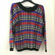 80's Plus Size 20 Sweater Women Jordache Knit Off Shoulder Acrylic USA Made