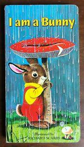 Vintage Golden Board book I AM A BUNNY Richard Scarry oversize 9 x 6