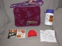 VTG 2001 HARRY POTTER PURPLE LUNCH BOX LUNCHBOX THERMOS COOLER BACK TO SCHOOL