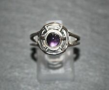 Gorgeous Amethyst Sterling Silver Split Band Ring