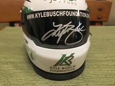 """Kyle Busch """"Bundle of Joy"""" Charity Mini Helmet - Autographed!"""
