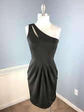 New Guess XS 2 4 One shoulder Dress Scuba Cocktail Formal Party Stretch