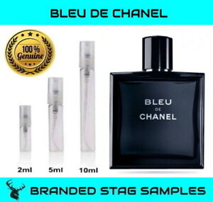 CHANEL Bleu De Chanel -  EDT Men's Travel Tester Sample 2ml / 5ml / 10ml sizes