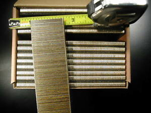 "18 gauge 1/4"" Narrow Crown Staples 5000/bx Galvanized Chisel Point 1-1/2"" long"