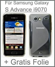 Samsung Galaxy S Advance GT-i9070 Silikonhülle in Transparent + Schutzfolie