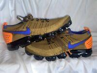 Men's Nike Air Vapormax Flyknit 2 Running Shoe Size 10.5 Golden Beige 942842-203