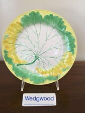 Antique Wedgwood Majolica YELLOW GREEN & WHITE LEAF PLATE c. 1861 (E)