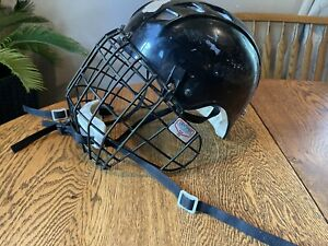 Vintage Ice Hockey Bull Riding Helmet Adult Large with Cage - Unique Rare