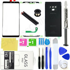 For Samsung Galaxy Note 9 N960 -Black-Front Screen Glass Back Replacement Kit