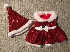 New ListingBuild A Bear Christmas Dress With Santa Hat Clothing Outfit . . . Free Shipping