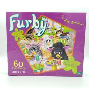 Furby 60 Piece Puzzle Factory Sealed Special Shaped E-day doo-ay! New