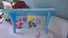 WOODEN WALL STORAGE SHELF VINTAGE BIRD SHABBY CHIC HOME BEDROOM BATHROOM DISPLAY