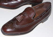MEN'S NEW FOOTJOY BROWN LONGWING SLIP-ON SHOES WITH TASSELS! LOAFERS! USA! 10 B