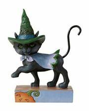 Jim Shore Halloween Walking Black Cat Witches Hat Mini Figurine 6006705 New 2020
