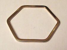 BRACELET RETRO RIGIDE PLAT COULEUR OR MODELE RARE *3401