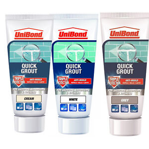 UniBond Quick Tile Grout Triple Anti-Mould Protection - Cream, Grey Or White