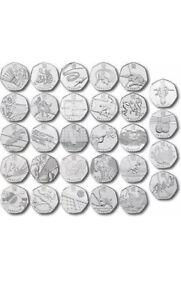Rare 50p Coins circulated/ Uncirculated Olympics WWF NHS Football Shooting Tenni