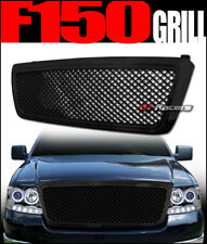 2004-2008 Ford F150 Black Luxury Mesh Front Hood Bumper Grill Grille Guard Abs