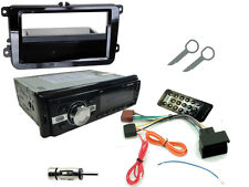 VW Golf MK5 03-09 auto estéreo Kit: unidad principal radio Bluetooth MP3 + Negro Fascia