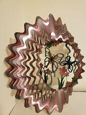 3D Metal Wind Spinner Buttlerflies & Flowers Hanging Yard Lawn Garden Decor
