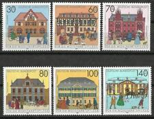 Germany 1991 MNH - Architecture - Postal Buildings Bethel Stralsund Lauscha Bonn