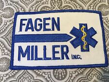 """Fagen Miller Incorporated Embroidered Large Medical Patch 4 1/4 x 2 3/4"""" #59"""
