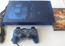 *VERY RARE* Sony Playstation 2 Ocean Blue Japanese Import (NTSC-J) (SCPH-37000)