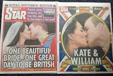Kate Middleton Royal Wedding Daily Star Souvenir Newspaper &pullout 30/04/11