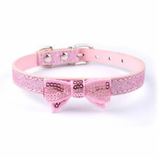 """Bling Girl Dog Puppy Pet Collars for Small Medium Breeds Adjust Neck for 10-15"""""""