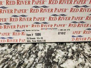 Red River Paper's Polar Matte C1s#1886  Size 16x20 25 sheets