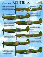 Iliad Decals 1/72 PRE-WAR SUPERMARINE SPITFIRE Mk-I Fighters