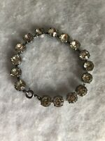 Vintage Bracelet Glass Paste 1940s 1950s Jewellery Jewelry Retro Spring Clasp