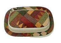 Studio Nova Butter Dish with Lid Palm Desert 1/4 Pound Geometric Design 2 piece