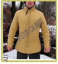 Medieval Gambeson Medieval Padded color full sleeves  yellow color