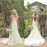 White/Ivory Lace Mermaid Wedding Dress Bridal Gown Stock Size 4.6.8.10.12.14.16