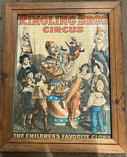 Extremely Rare Ringling Brothers Circus  1917  Clown Poster- Estate Find