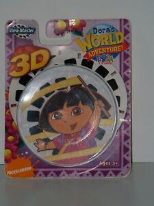 Dora The Explorer WORLD ADVENTURE Nickelodean 3D View-master Reels 2009 Mattel