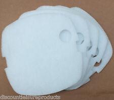 Confezione da 5 SUN SUN hw-302 Esterno Acquario Filtro Sottile Bianco Poli Pad Schiuma
