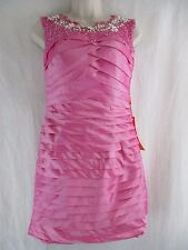 Dream Prom Pink Beaded Sleeveless Scoop Neck Formal Short Evening Prom Dress  p2