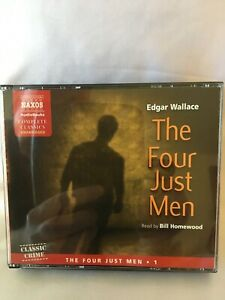 The Four Just Men by Edgar Wallace 4 X CD Audiobook, Unabridged. FREE UK POSTAGE