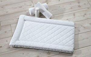 East Coast QUILTED CHANGING MAT - WHITE Newborn Baby Toddler Nursery BN