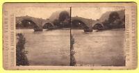 Stereoscopic Card - Llanrwst Bridge - P. B.