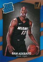 Bam Adebayo RC 2017-18 NBA Donruss Basketball Rated Rookie Card #187 Miami Heat