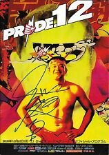 Kazushi Sakuraba Signed Official Pride FC 12 Event Program PSA/DNA UFC Autograph