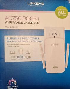 LINKSYS AC750 BOOST WiFi RANGE EXTENDER Model RE6300