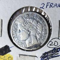 1887-A France 2 Francs Silver Coin