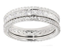 Bella LuceCubic Zirconia Rhodium Over Sterling Silver Rings- Set Of 3 3.39ctw