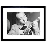Music Vintage Photo Legend Guitar Player Django Reinhardt Framed Print 9x7 Inch